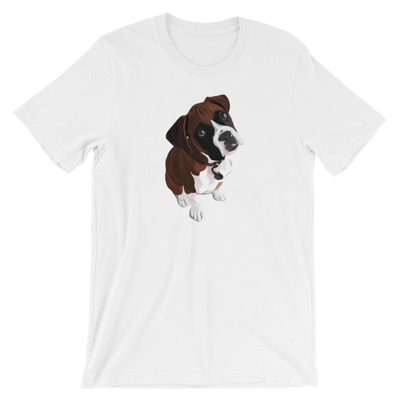 Boxer Cute Looking Dog T-Shirt