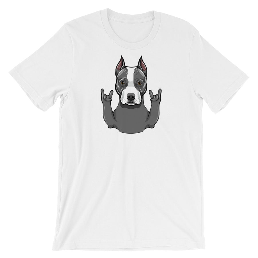 Pit Bull Rock N Roll Dog T-Shirt