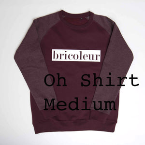Sweater Bricoleur - bordeaux mannen - M