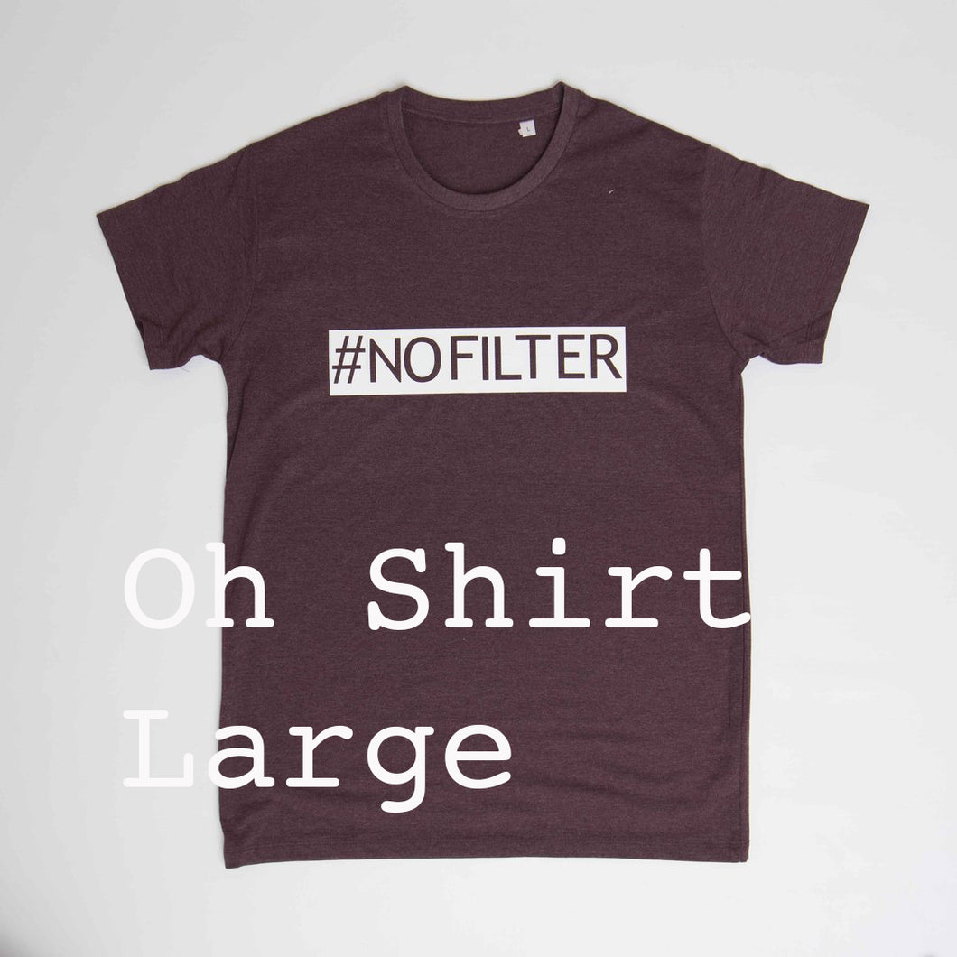 # no filter - heren t-shirt - bordeaux - L