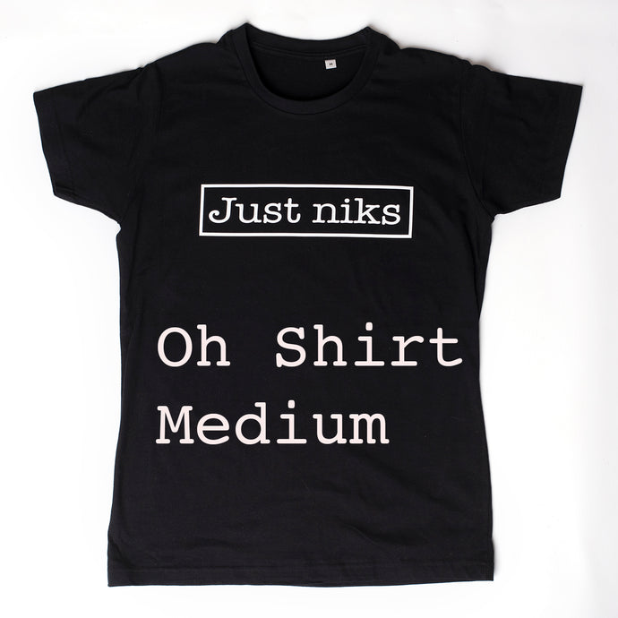 Just niks - heren t-shirt - zwart - M