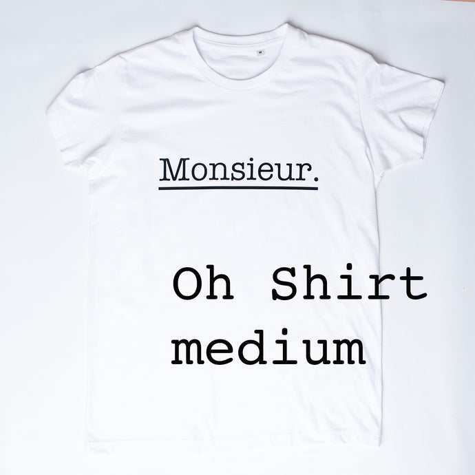 Monsieur - heren t-shirt - wit - M