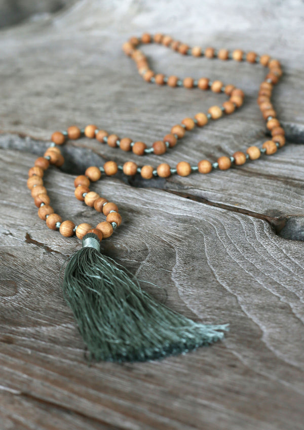 Boho Necklace Wood