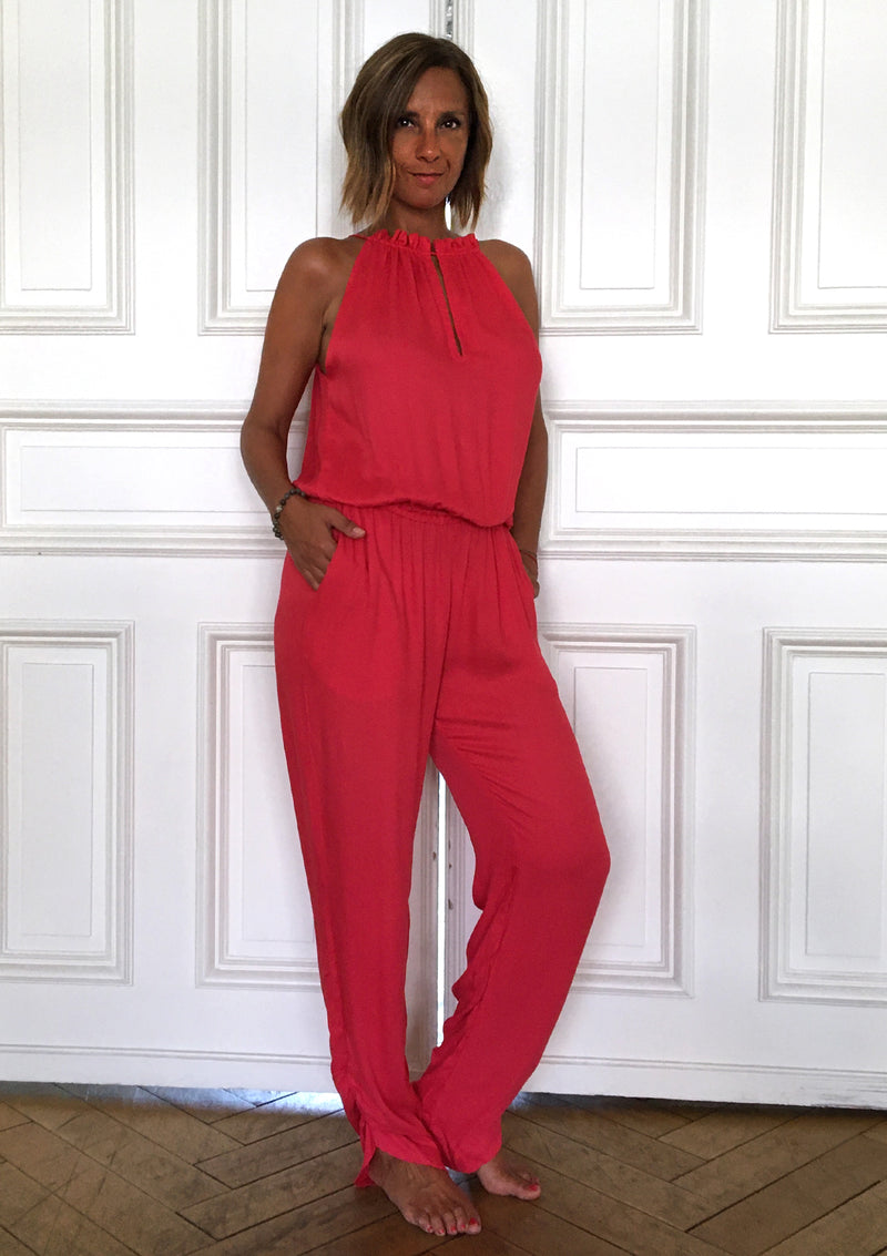 Ivy Jumpsuit Hot Coral