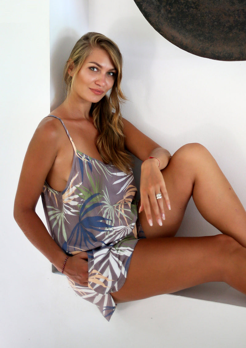 Linda Playsuit Tropical Taupe