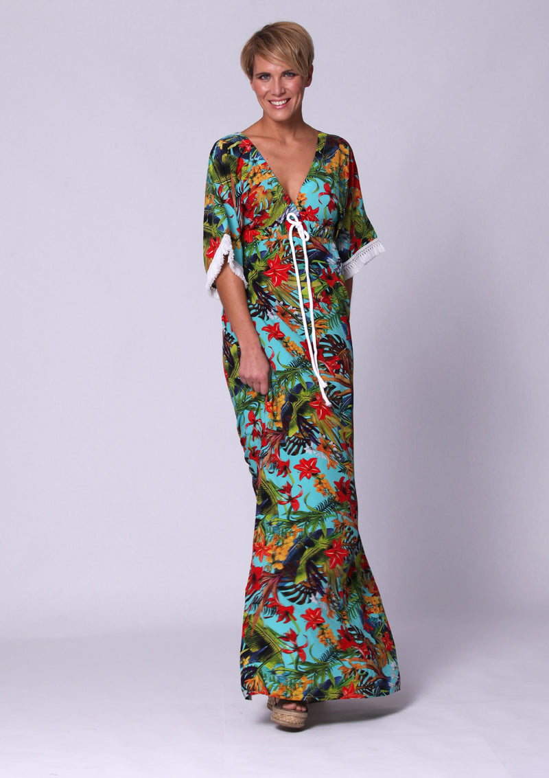 Tropical Flower Maxidress