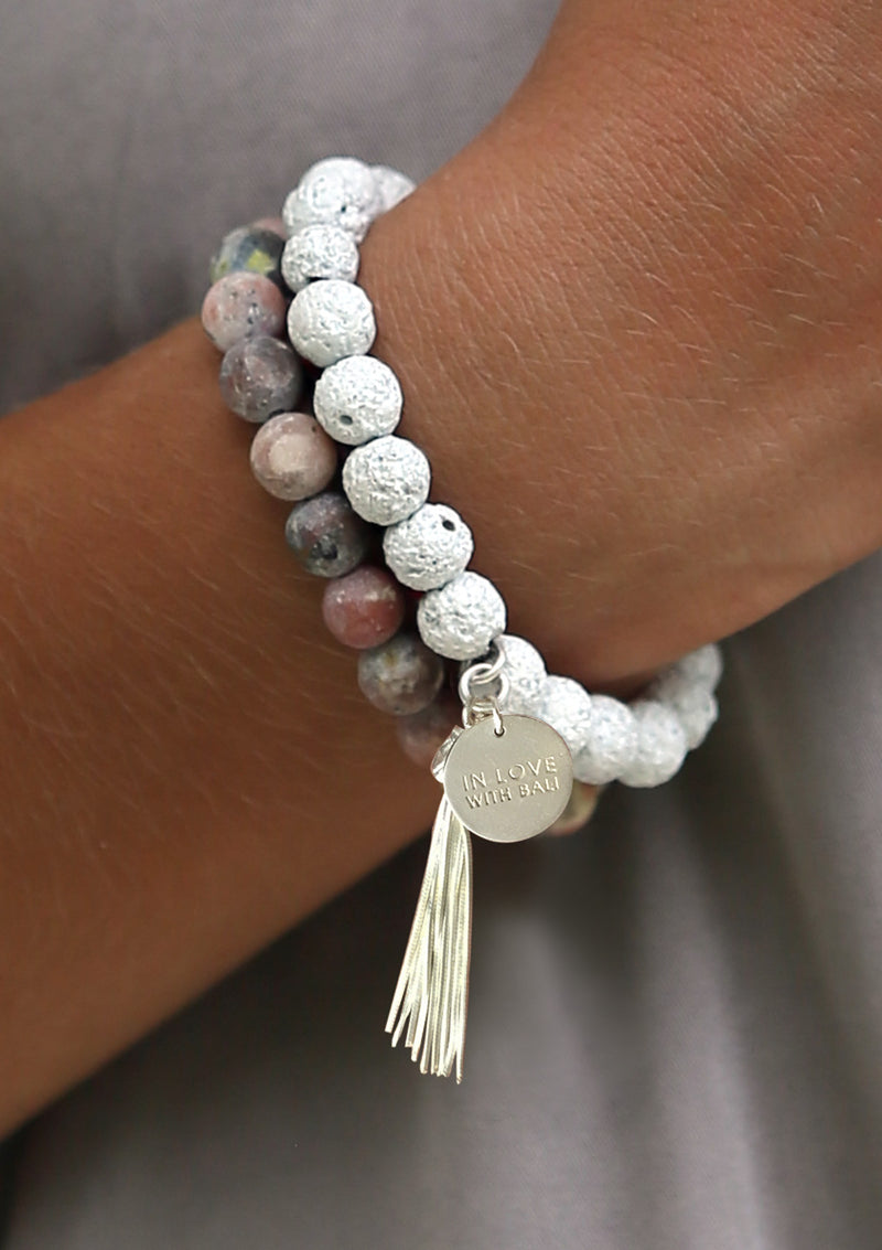 White Lava Bracelet Set