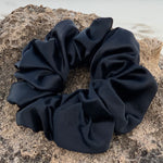 Silk Satin Scrunchie Classic - Black