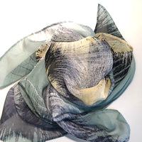 Silk Head Scarf - Multi Mint