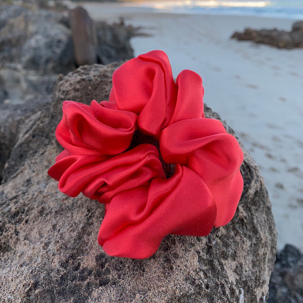 Silk Satin Scrunchie Classic - Red