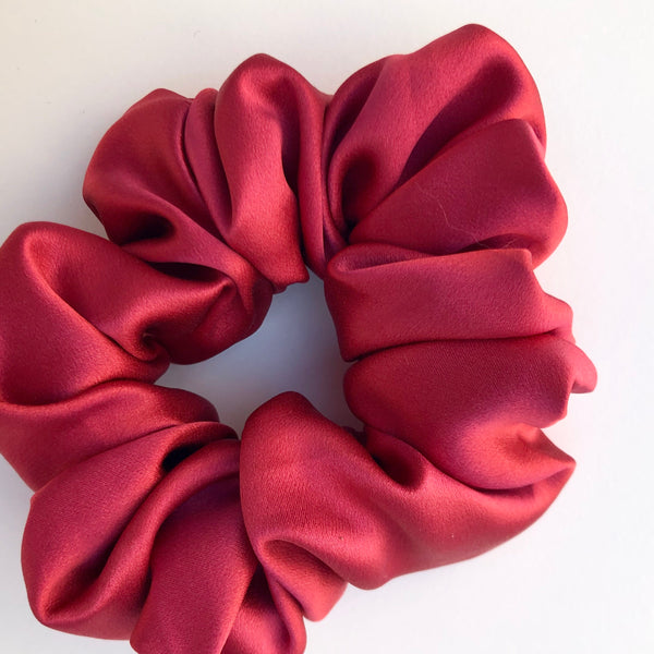 Silk Satin Scrunchie Classic - Rouge