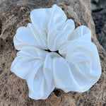 Silk Satin Scrunchie Classic - White