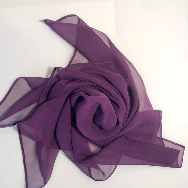 Silk Head Scarf - Cerise