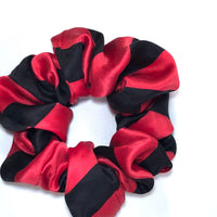 Silk Satin Scrunchie Classic - Red and Black