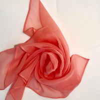 Silk Head Scarf - Multi Coral