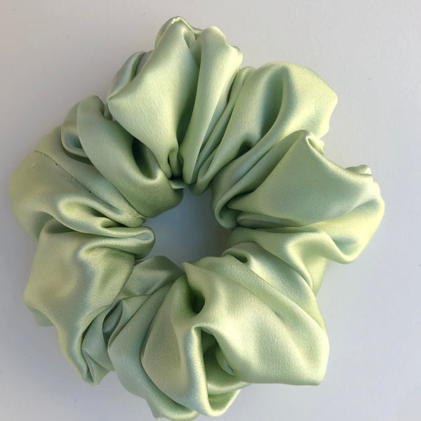 Silk Satin Scrunchie Classic - Mint