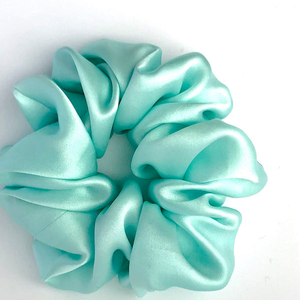 Silk Satin Scrunchie Classic - Opal