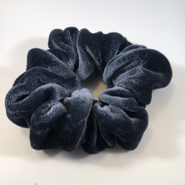 Silk Velvet Scrunchie Classic - Ink