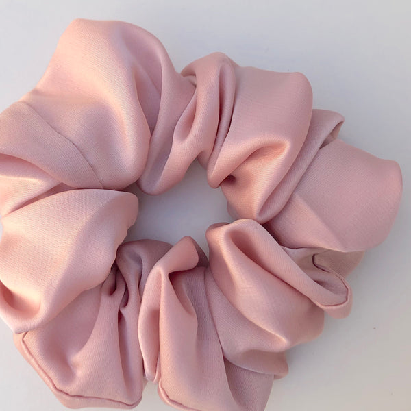 Silk Satin Scrunchie Classic - Blush