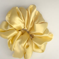 Silk Satin Scrunchie Classic - Lemon