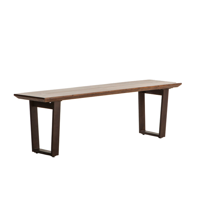 Remarkable Mapai 56 Inch Acacia Wood Dining Bench In Walnut Finish Ibusinesslaw Wood Chair Design Ideas Ibusinesslaworg