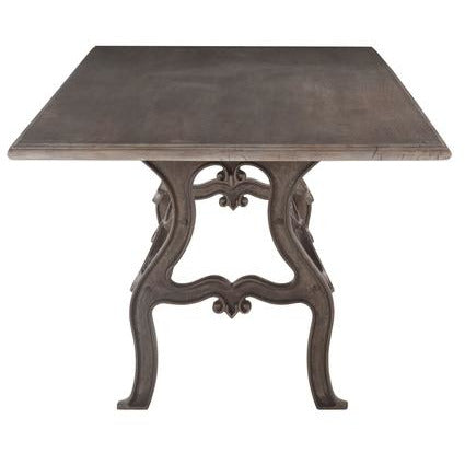 Strange Anderson 90 Inch Weathered Gray Dining Table With Reclaimed Iron Base Onthecornerstone Fun Painted Chair Ideas Images Onthecornerstoneorg