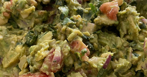 Fresh Guacamole, made with fertility diet foods