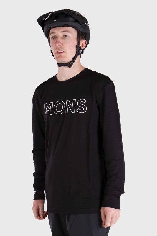 Mons Royale Yotei Tech Long Sleeve Merino Jersey Black