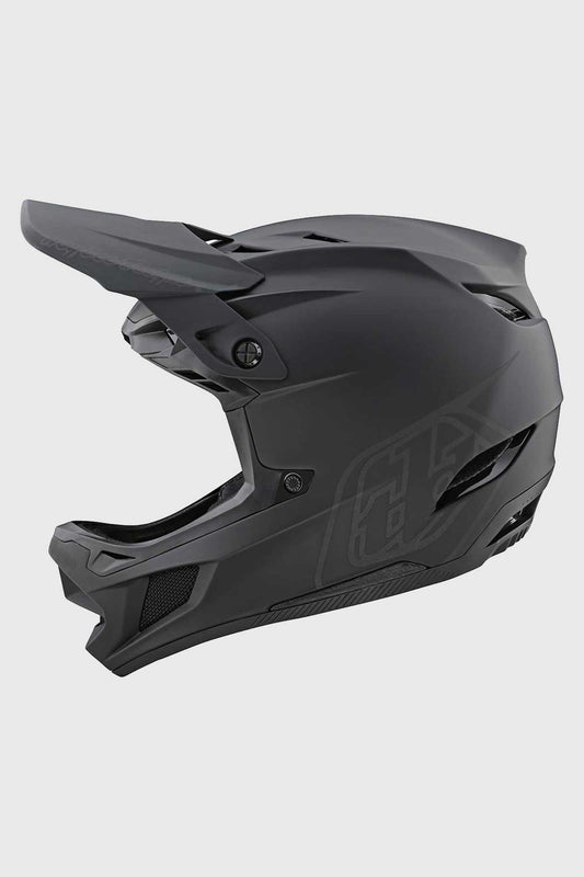 Troy Lee D4 Composite Helmet - Stealth Black/Grey