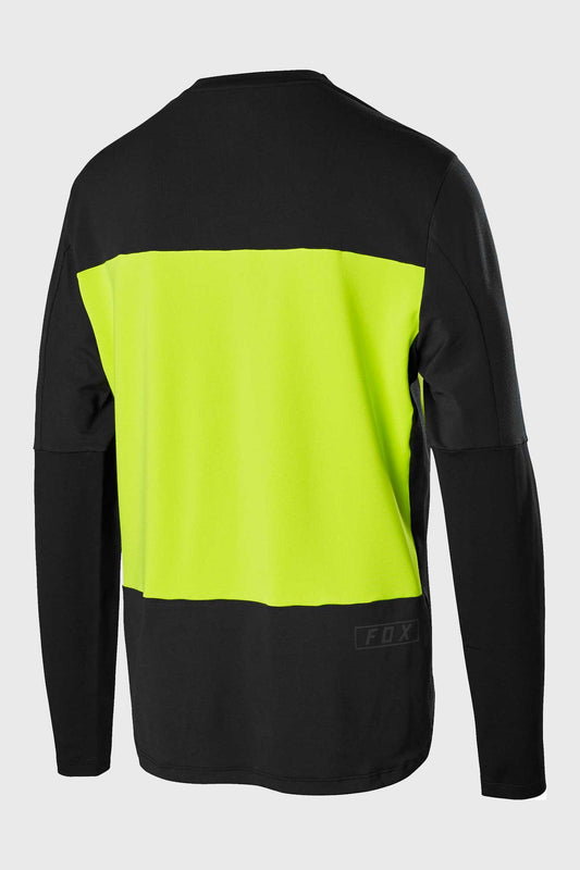 Fox Defend Delta Long Sleeve Jersey - Day Glo Yellow