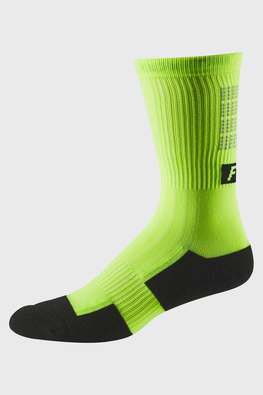 Fox 8 Inch Trail Cushion Sock - Day Glo Yellow