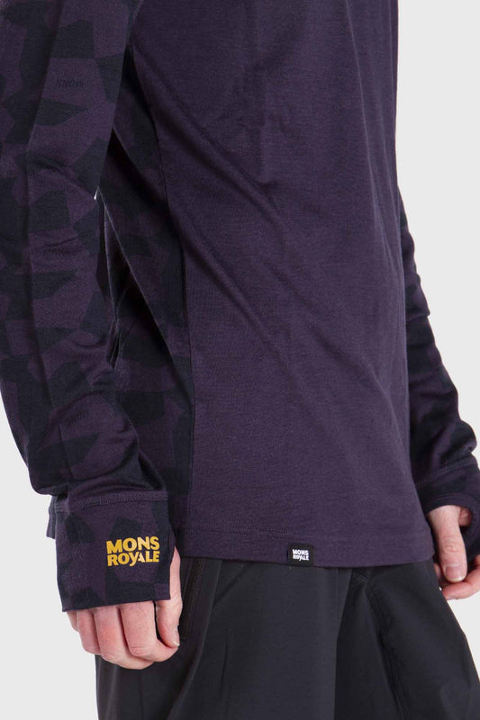 Mons Royale Yotei Tech Long Sleeve Merino Jersey 9 Iron Camo