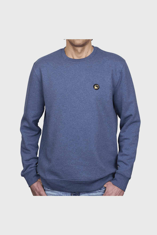 Burgtec Icon Sweater - Dark Heather Blue