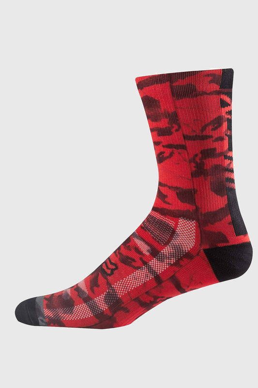 Fox Creo 8 Inch Sock Red