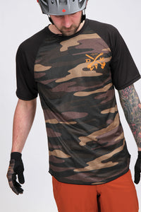 Dakine Dropout Short Sleeve Field Camo