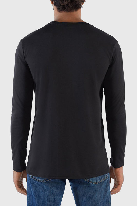 Oh Snap Long Sleeve Tech tee black
