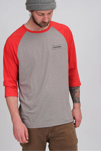 Dakine Walker Baseball Tee Indie Red