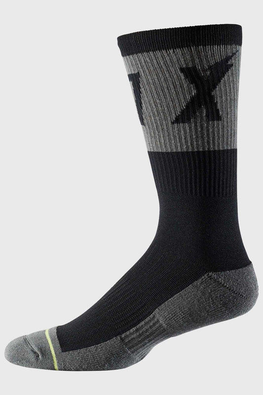 Fox 8 Inch Trail Cushion Sock Wurd - Black