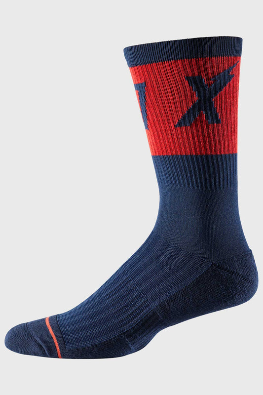 Fox 8 Inch Trail Cushion Sock Wurd - Navy