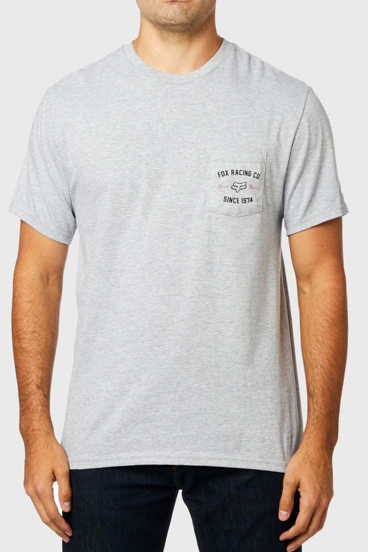 Fox Speed Thrills Pocket Tee - Heather Grey