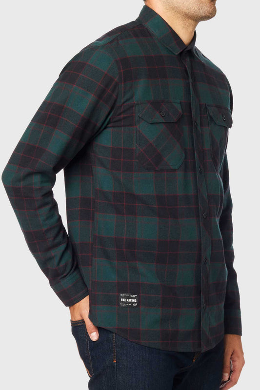 Fox Traildust 2.0 Flannel Shirt - Emerald