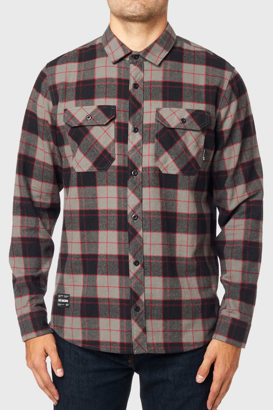 Fox Traildust 2.0 Flannel Shirt - Pewter
