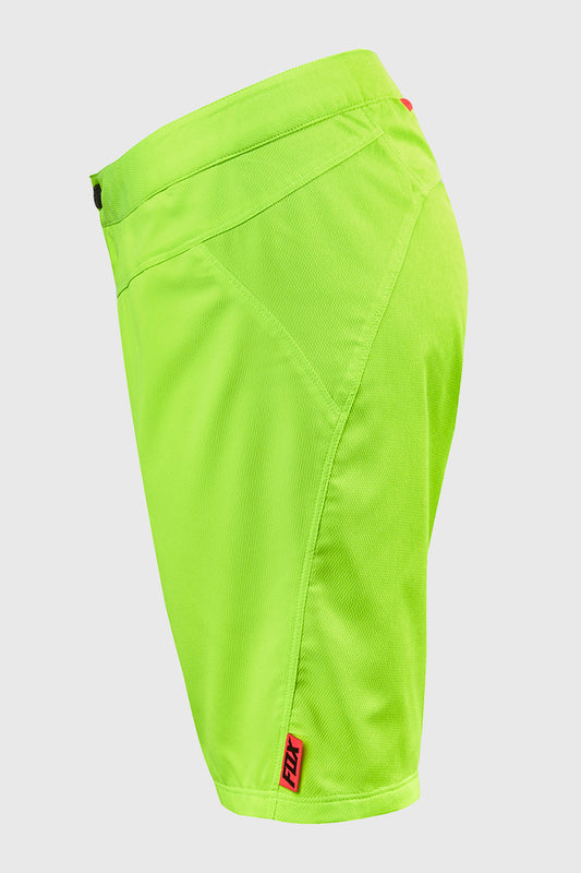 Fox Women's Ripley Short Flo Yellow Left Leg