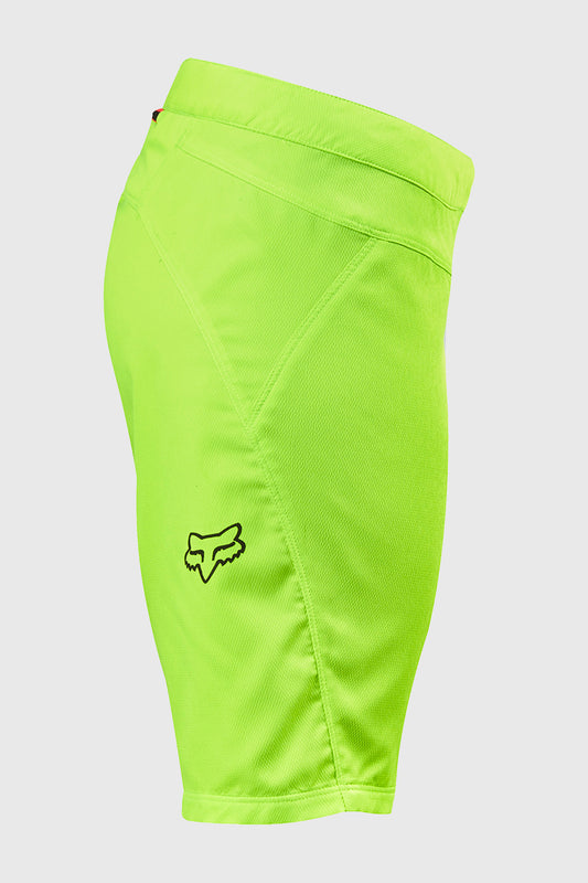 Fox Women's Ripley Short Flo Yellow Right Leg