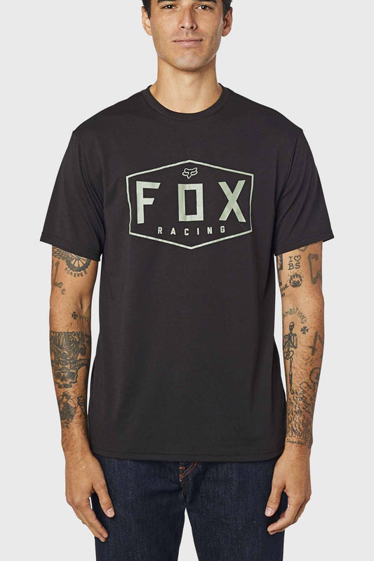 Fox Crest Short Sleeve Tech Tee - Black/Green