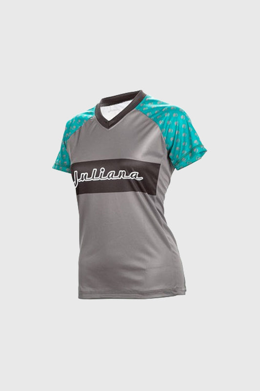 Juliana Trail Jersey Evergreen and Grey