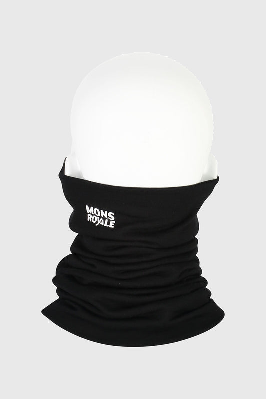 Mons Royale Double Up Reversible Neckwarmer Black