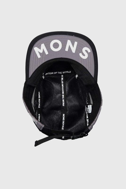 Mons Royale Redwood Mesh Panel Cap Black/Grey
