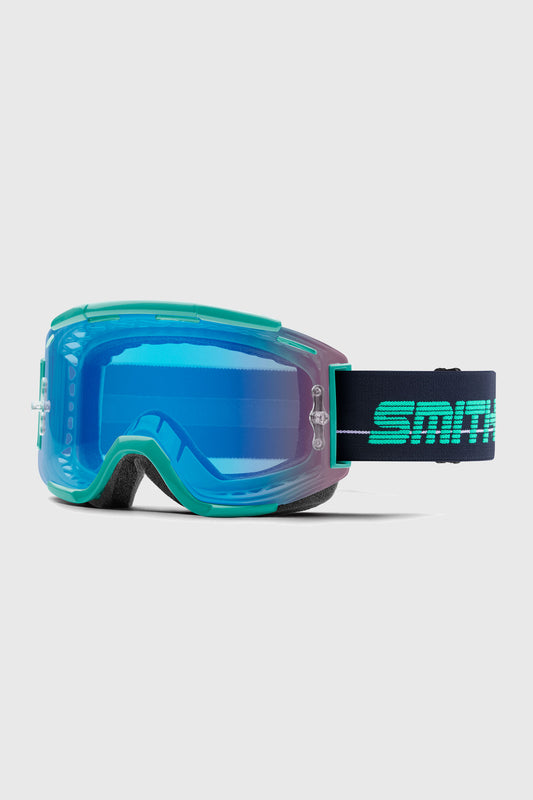 Smith Squad Goggles Jade Indigo w/ Contrast Rose Flash