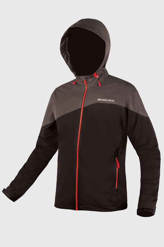 Endura Singletrack Softshell Mens Black Front